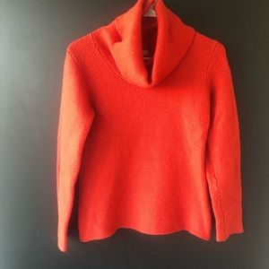 Banana Republic Cowl Orange Sweater Large